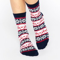 ASOS Fair Isle Socks In Christmas Bauble