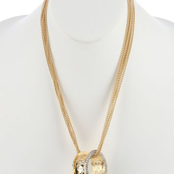 Cratinia (Gold) Boss Ring Necklace