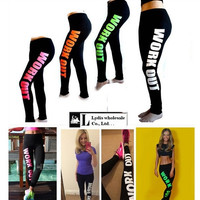 HOT!! 2014 Women Work Out Yoga/Sport Pants,Sweatpants/Capris,Sportswear,Fitness Punk Leggings,Gym/Running Pants,WorkOut Leggings = 1932189188