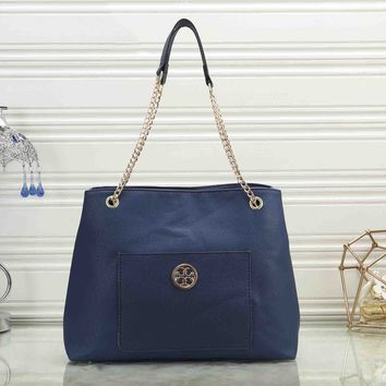 Tory Burch New Popular Women Leather Handbag Shoulder Bag Crossbody Satchel Blue