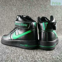 new style Nike Air Force 1 High Collection VLONE Black Green AA536-001 shoe