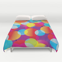Colorful Bubbles Duvet Cover by pugmom4