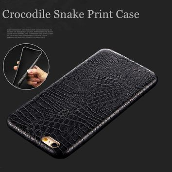 For iphone 6 Case Luxury 3D Crocodile Snake Print PU Leather Case for Apple iphone 7 6 6s Plus 5 S 5s se Ultra Slim Phone Cover