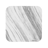 White Marble Pattern Coaster All Over Print by TooLoud