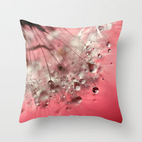 New Year's Pink Champagne Throw Pillow by micklyn | Society6