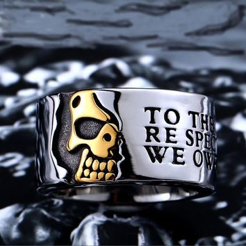 Stainless Steel Gothic Skull Men Ring