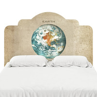 Third Planet from the Sun Headboard Decal