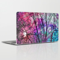 Purple teal forest Laptop & iPad Skin by Haroulita | Society6