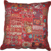 """24x24"""" Red Decorative throw Pillows for couch, bed pillows, meditation pillows, seating cushions, chair cushions, outdoor toss pillows"""