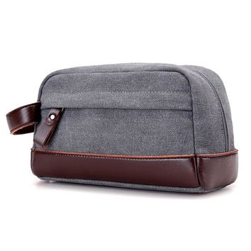 Canvas Travel Toiletry Organizer Shaving Dopp Kit Travel Cosmetic Bag Makeup Men Handbag Casual Zipper Wash Cases Make Up Bolsas