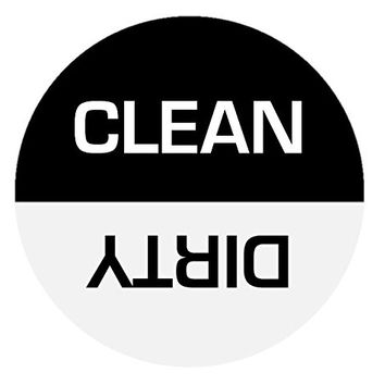 Clean Dirty Round Dishwasher Magnet - 3 Inches
