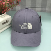 The north face Summer new fashion casual letter embroidery couple sports baseball cap Gray