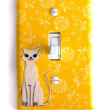 Mod Kitty Cat Single Toggle Switchplate Switch Plate