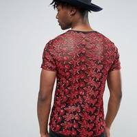 Reclaimed Vintage Lace T-Shirt at asos.com