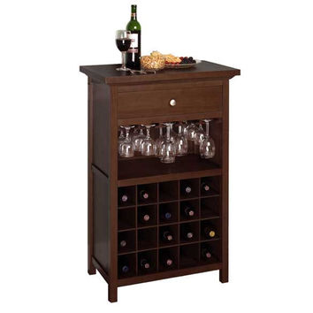 Wine Cabinet with Drawer & Glass Rack