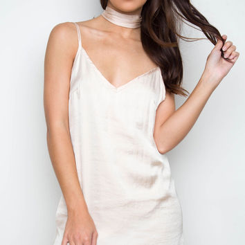 After Dark Slip Dress - Champagne