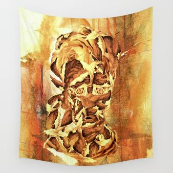 Leaf Man Wall Tapestry by RIZA PEKER
