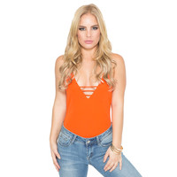 It's The Weekend Bodysuit In Orange