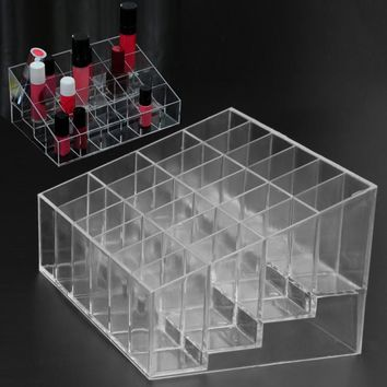 24 Grid Lipstick Jewelry Box Case Holder Acrylic Makeup Organizer Storage Box Cosmetic Box Display Stand make up Storage Case