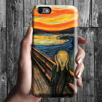 The Scream - Edvard Munch iPhone Case 6, 6S, 6 Plus, 4S, 5S. Mobile Phone Cell. Art Painting. Gift Idea. Anniversary. Gift for him and her