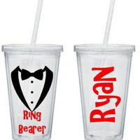 Ring Bearer Tumbler, Ring Bearer Gift. Personalized Tumbler, Ring Bearer Cup