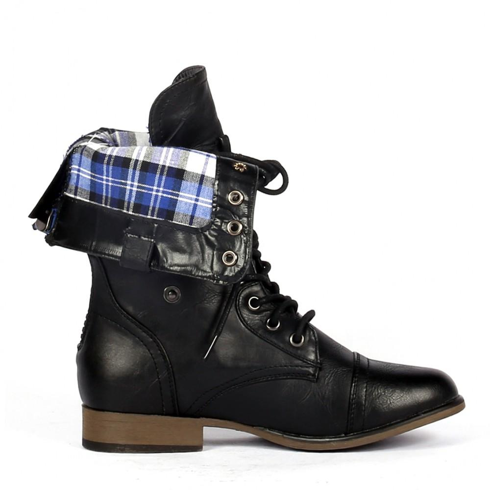 yab fold ankle high combat boots in from yabshop