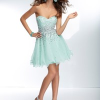 Short Homecoming Dresses From Sticks And Stones By Mori Lee Style 9252 Beaded Chiffon