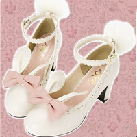 Sweet bow cute rabbit shoes