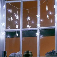 Battery Powered Light Star Curtain String Lights