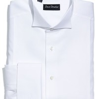 Men's David Donahue Regular Fit Bib Front French Cuff Tuxedo Shirt (Online Only)