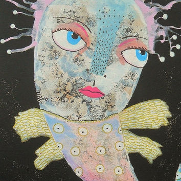 Raw Art Fish - Folk Art Fish - Fish Illustrations - Fish Paintings - Art Brut Fish - Cartoon Fish - Outsider Art Fish - Quirky Fish Painting