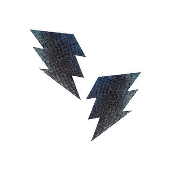 Carbon Fiber Silver Bolt Pasties