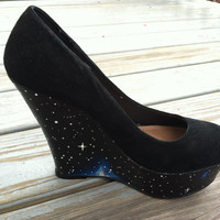 Galaxy wedges by MalloryElizabethS on Etsy