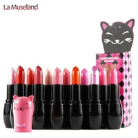 12 Colors Moisture Care Lipstick Cute Cat 3.5g Cat Series Lips Makeup Brand Mansly  #m108