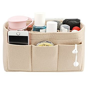 LEXSION Felt Handbag Organizer ,Insert purse organizer Fits Speedy Neverfull 5 Sizes