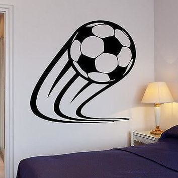 Wall Decal Soccer Kick Football Ball Sport Decor For Living Room Unique Gift (z2719)