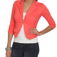 Ruched Sleeve Lace Blazer | Shop Jackets at Wet Seal