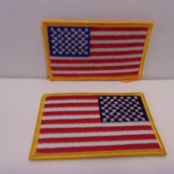 American Flag Embroidered Patches Patriotic Unisex Accessories