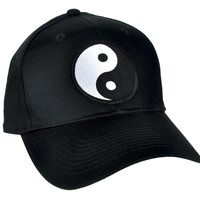Yin Yang Symbol Hat Baseball Cap Alternative Clothing Chinese Energy