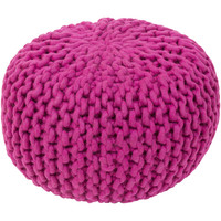 Stewart Knitted Pouf BRIGHT PURPLE