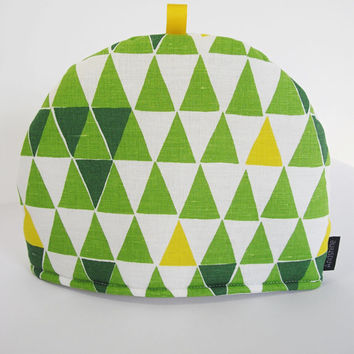 Scandinavian fabric Tea Cosy - Jaffa Green