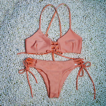 Coral Sunset Bikini Set