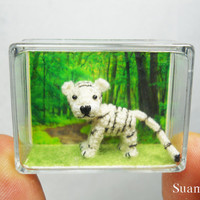 Cute White Tiger  Mini Tiny Crocheted Tigers  Made To by SuAmi