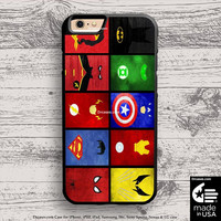 superheroes collage case for iphone 5s 6s case, samsung, ipod, HTC, Xperia, Nexus, LG, iPad Cases