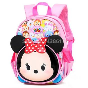 Toddler Backpack class New Tsum Tsum Mickey Minnie Backpack School Bags for Children Boys Girls Kids Kindergarten Preschool School Toddler Bag AT_50_3