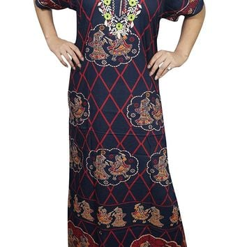 Womens Zora Cotton Kaftan Printed Caftan Nightwear Coverup Dress XL: Amazon.ca: Clothing & Accessories