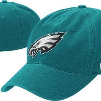 Philadelphia Eagles fitted hat Reebok New NFL NFC Iggles Football Philly New with Stickers
