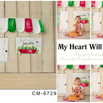 200cm*150cm(about 6.5*5ft ) Wooden Background Green Glass with Wood Background  Newborn Baby Photos Children Backdrop Studio CM-6729