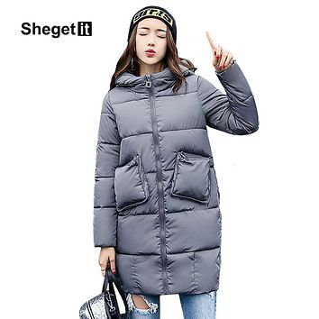 Shegetit Women Down Coat Parka 2017 New Winter Minus 30 Degrees Keep Warm Jacket Women Outerwear Jacket Female Down Coat Women