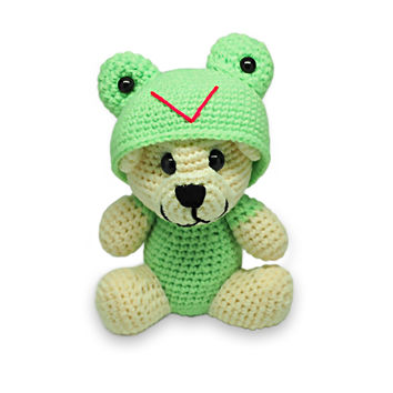 Tubby Froggy Crochet Teddy Bear, Handmade Teddy Bears
